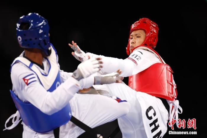 东京奥运会跆拳道比赛后 中国队获得了第一枚奥运金牌